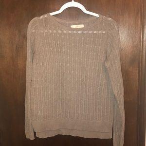 Taupe LOFT sweater - Medium